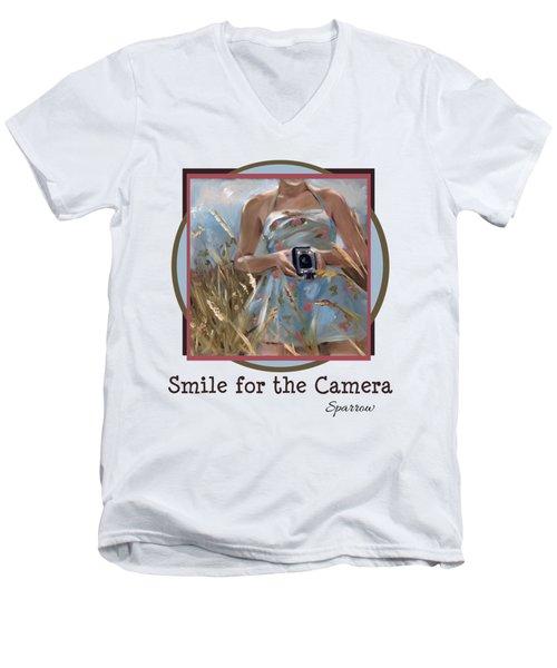 Smile For The Camer Men's V-Neck T-Shirt