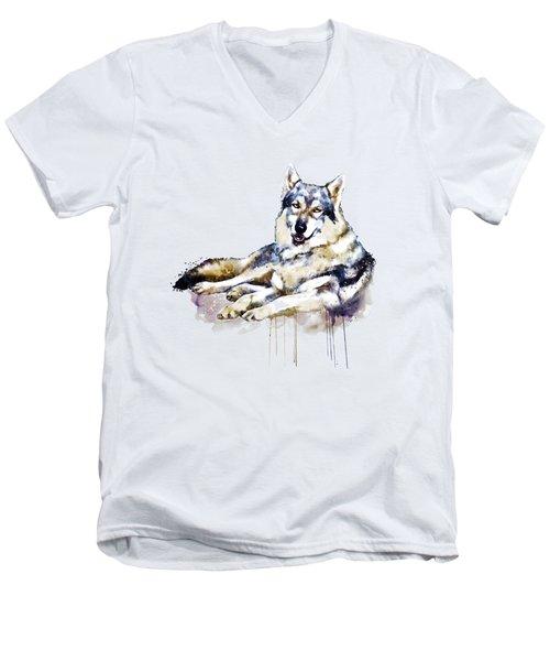 Smiling Wolf Men's V-Neck T-Shirt
