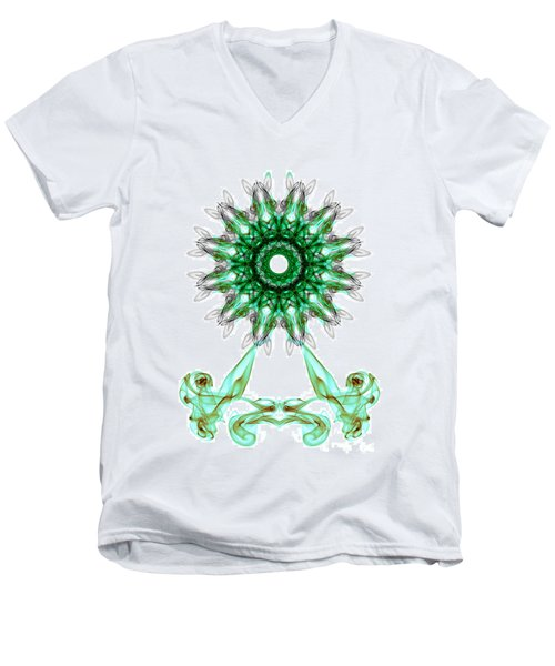 Smoke Wheel Men's V-Neck T-Shirt