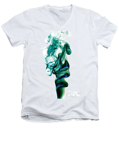 Men's V-Neck T-Shirt featuring the photograph smoke XXIII by Joerg Lingnau