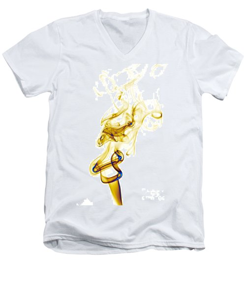 Men's V-Neck T-Shirt featuring the photograph smoke XXXIX by Joerg Lingnau