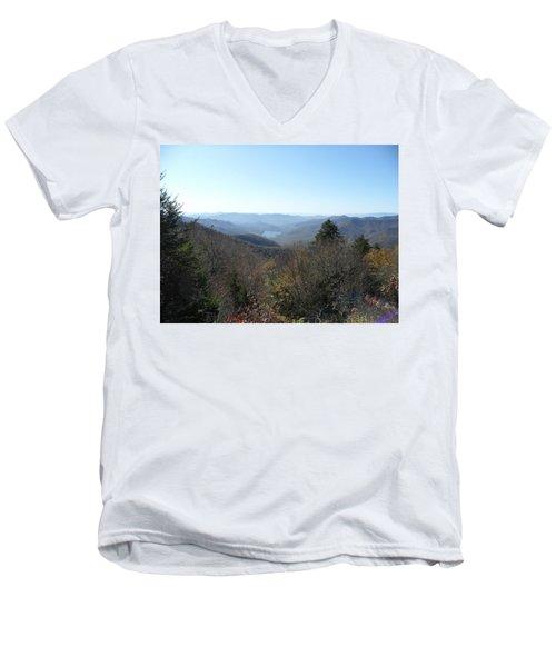 Smokies 16 Men's V-Neck T-Shirt by Val Oconnor