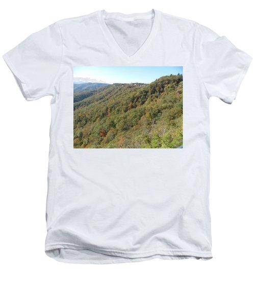 Smokies 19 Men's V-Neck T-Shirt by Val Oconnor