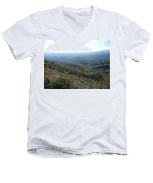 Smokies 20 Men's V-Neck T-Shirt by Val Oconnor