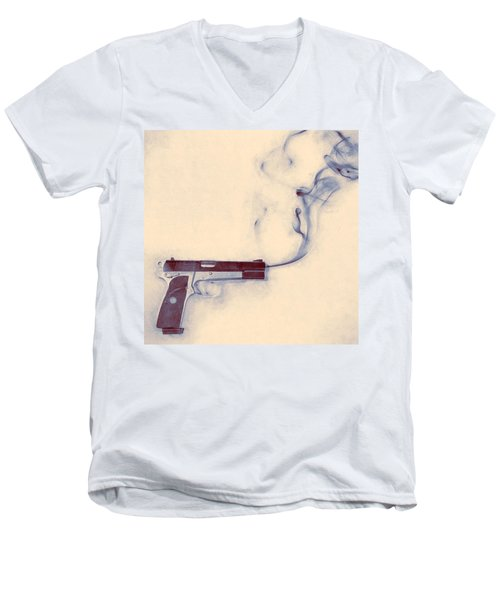 Smoking Gun Men's V-Neck T-Shirt