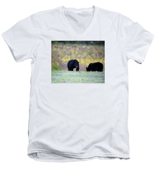 Smoky Mountain Black Bears Men's V-Neck T-Shirt