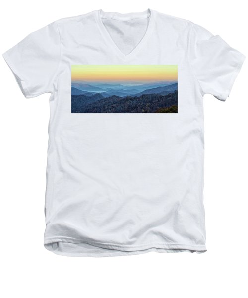 Smoky Mountains Men's V-Neck T-Shirt