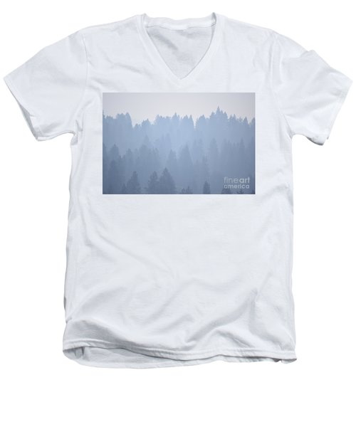 Smoky Pines Men's V-Neck T-Shirt