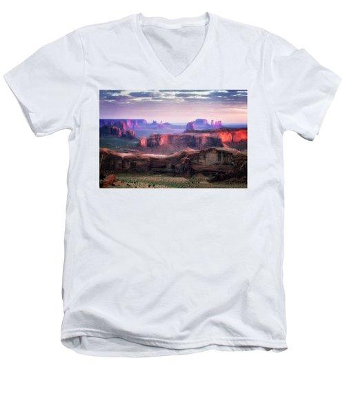 Smooth Sunset Men's V-Neck T-Shirt by Nicki Frates