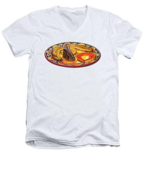 Snacking Butterfly Men's V-Neck T-Shirt