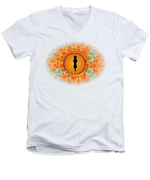 Snake Eye Men's V-Neck T-Shirt by Michal Boubin