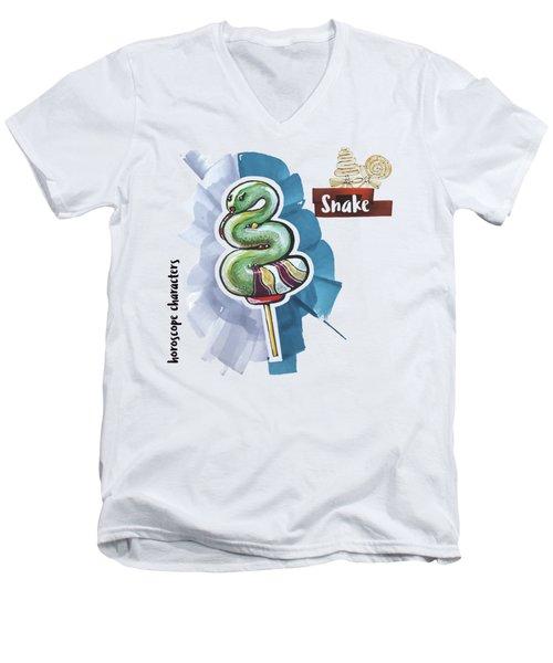 Snake Horoscope Men's V-Neck T-Shirt