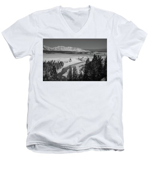 Snake River View Men's V-Neck T-Shirt