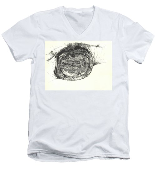 Snapping Turtle Men's V-Neck T-Shirt