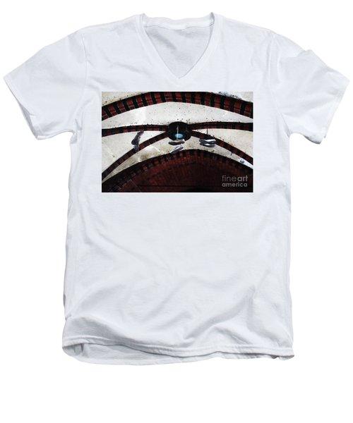 Sneakers Men's V-Neck T-Shirt by Ana Mireles