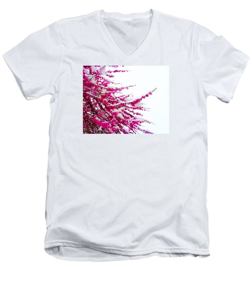 Snow Blossoms Men's V-Neck T-Shirt