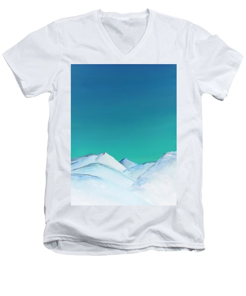 Snow Capped Mountains Men's V-Neck T-Shirt