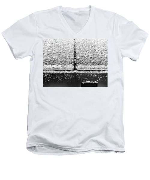 Men's V-Neck T-Shirt featuring the photograph Snow Covered Rear by Robert Knight