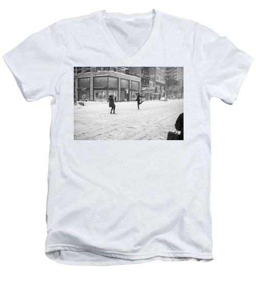 Snow Dance - Le - 10 X 16 Men's V-Neck T-Shirt