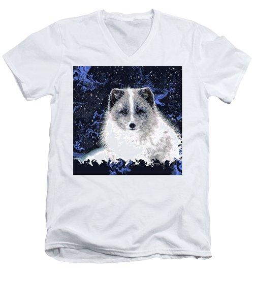 Snow Fox Men's V-Neck T-Shirt