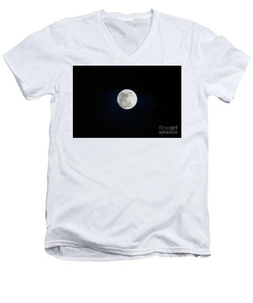 Snow Moon 4 Men's V-Neck T-Shirt