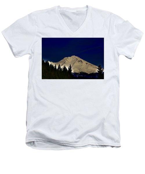 Snow On Shasta Men's V-Neck T-Shirt