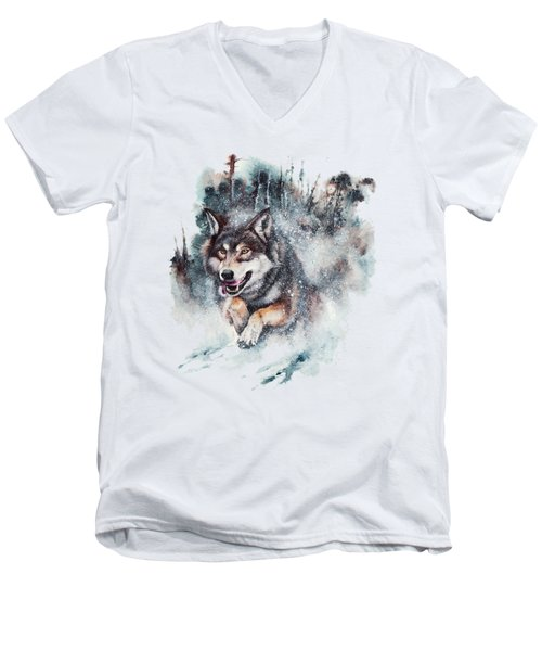 Snow Storm Men's V-Neck T-Shirt