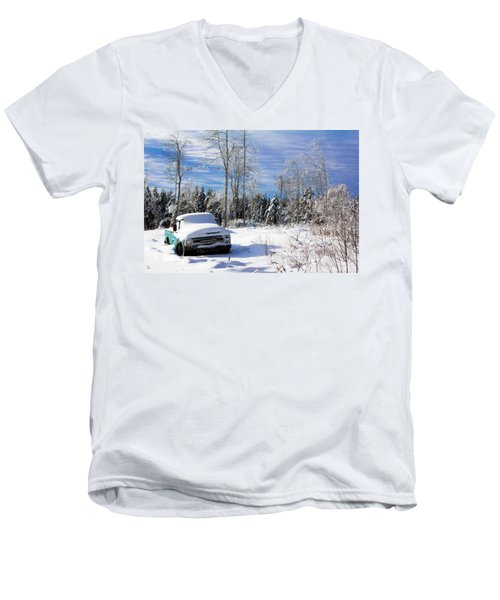Snow Truck Men's V-Neck T-Shirt
