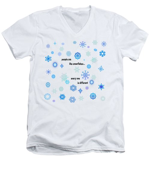 Snowflakes 3 Men's V-Neck T-Shirt