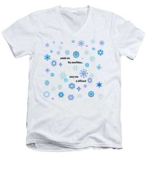 Snowflakes 3 Men's V-Neck T-Shirt