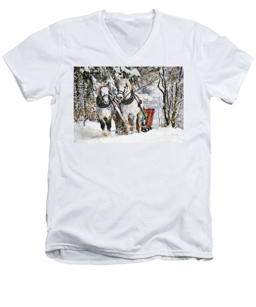 Snowy Day Men's V-Neck T-Shirt