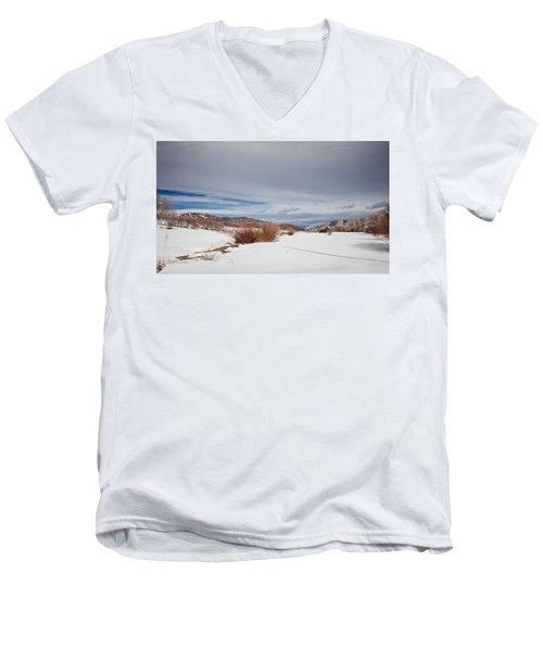Snowy Field Men's V-Neck T-Shirt