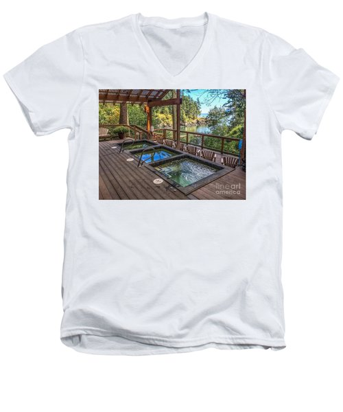 Men's V-Neck T-Shirt featuring the photograph Soak In Doe Bay by William Wyckoff