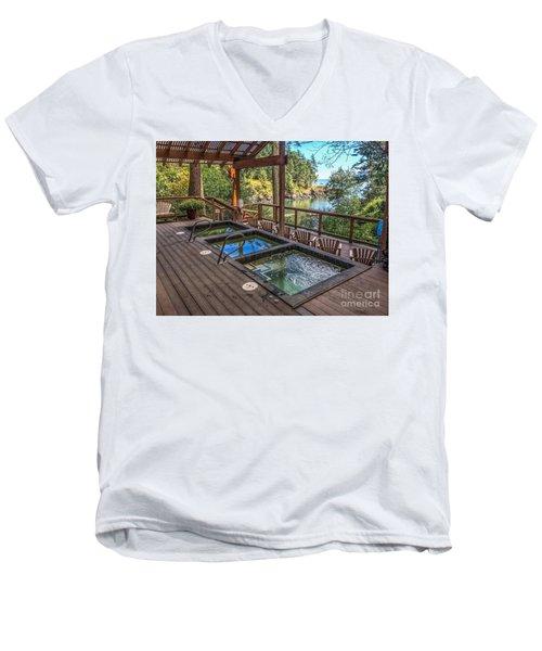 Soak In Doe Bay Men's V-Neck T-Shirt by William Wyckoff