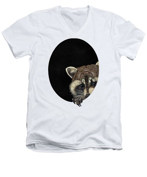 Socially Anxious Raccoon Men's V-Neck T-Shirt