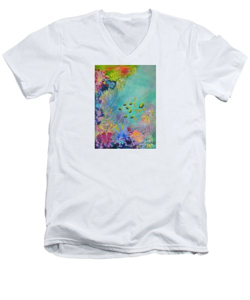Soft And Hard Reef Corals Men's V-Neck T-Shirt by Lyn Olsen
