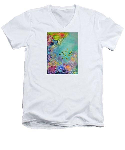 Soft And Hard Reef Corals Men's V-Neck T-Shirt