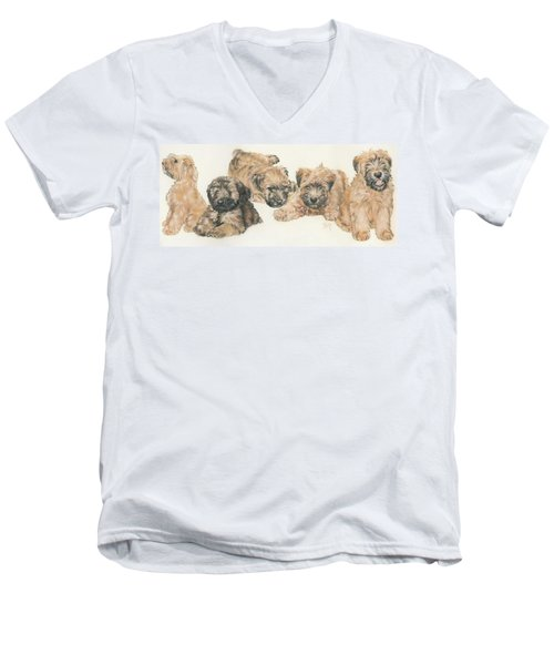 Soft-coated Wheaten Terrier Puppies Men's V-Neck T-Shirt