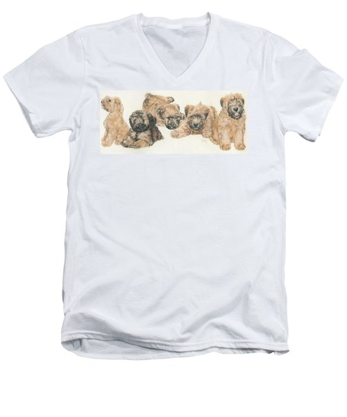 Soft-coated Wheaten Terrier Puppies Men's V-Neck T-Shirt