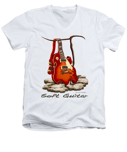 Soft Guitar - 3 Men's V-Neck T-Shirt by Mike McGlothlen