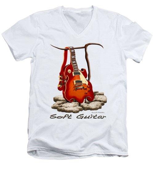 Soft Guitar - 3 Men's V-Neck T-Shirt