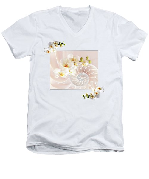 Soft Pink Fusion Men's V-Neck T-Shirt