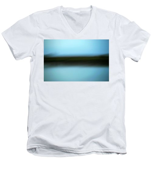 Men's V-Neck T-Shirt featuring the photograph Soft Reflections by Marilyn Hunt