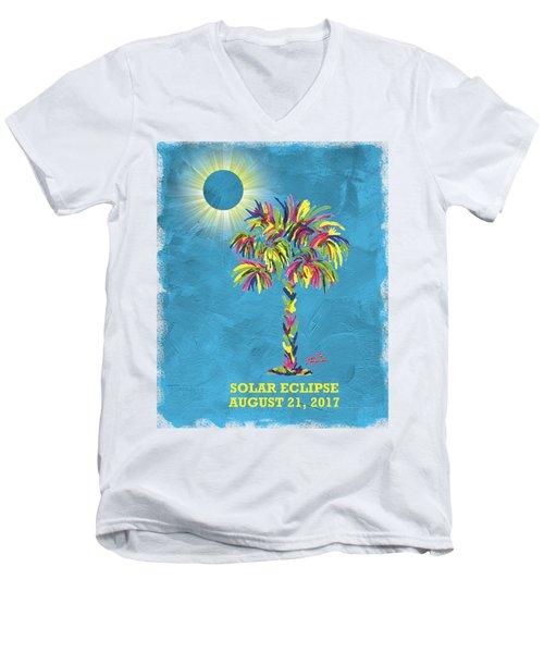 Solar Eclipse 2017 Men's V-Neck T-Shirt