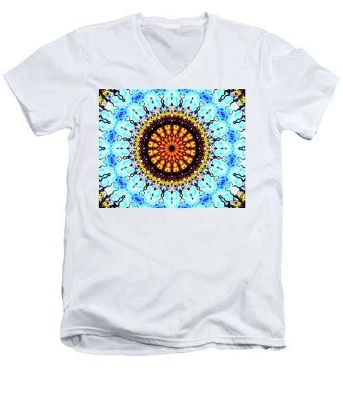 Men's V-Neck T-Shirt featuring the digital art Solar Flare 1 by Wendy J St Christopher