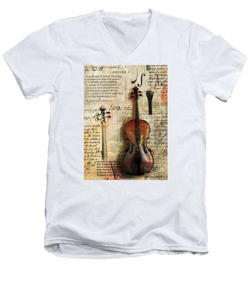 Soli Deo Gloria Men's V-Neck T-Shirt