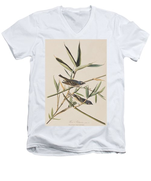 Solitary Flycatcher Or Vireo Men's V-Neck T-Shirt