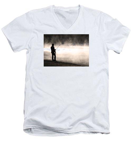 Solitude Men's V-Neck T-Shirt by Stephen Flint