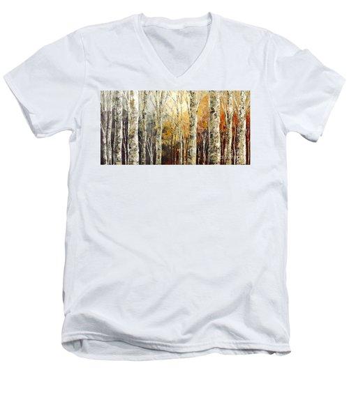 Solitudes Of Twilight Men's V-Neck T-Shirt by Tatiana Iliina