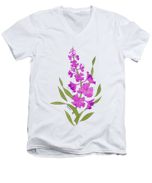 Solo Fireweed Shirt Image Men's V-Neck T-Shirt by Teresa Ascone
